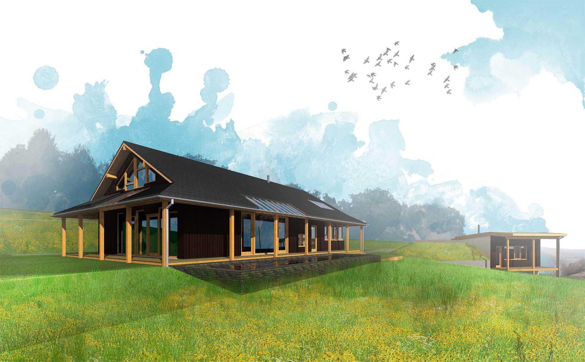 Casa in legno e paglia : come posizionare una casa in un terreno