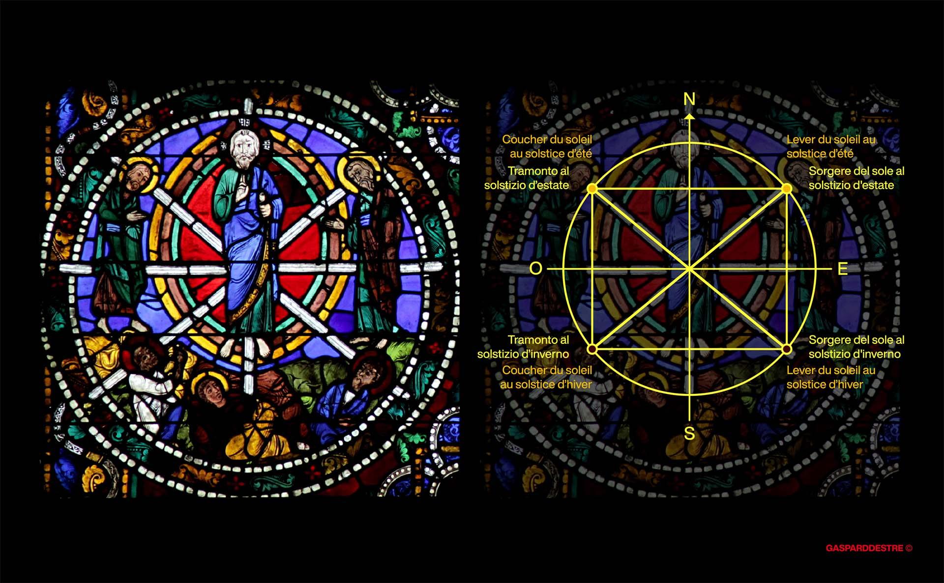 La vetrata della Trasfigurazione e il quadrilatero solstiziale di Chartres